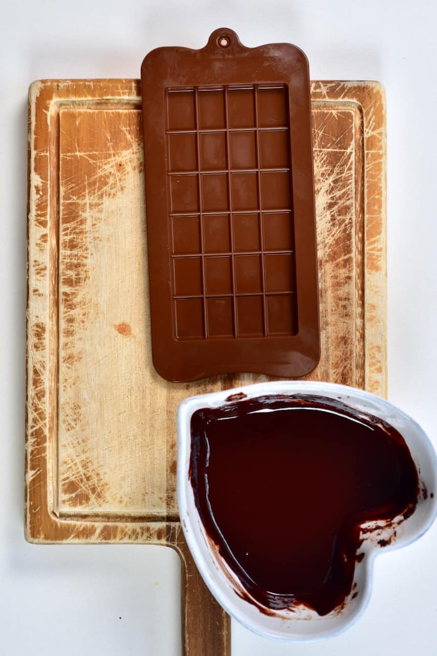 melted Milk Chocolate and a chocolate mold