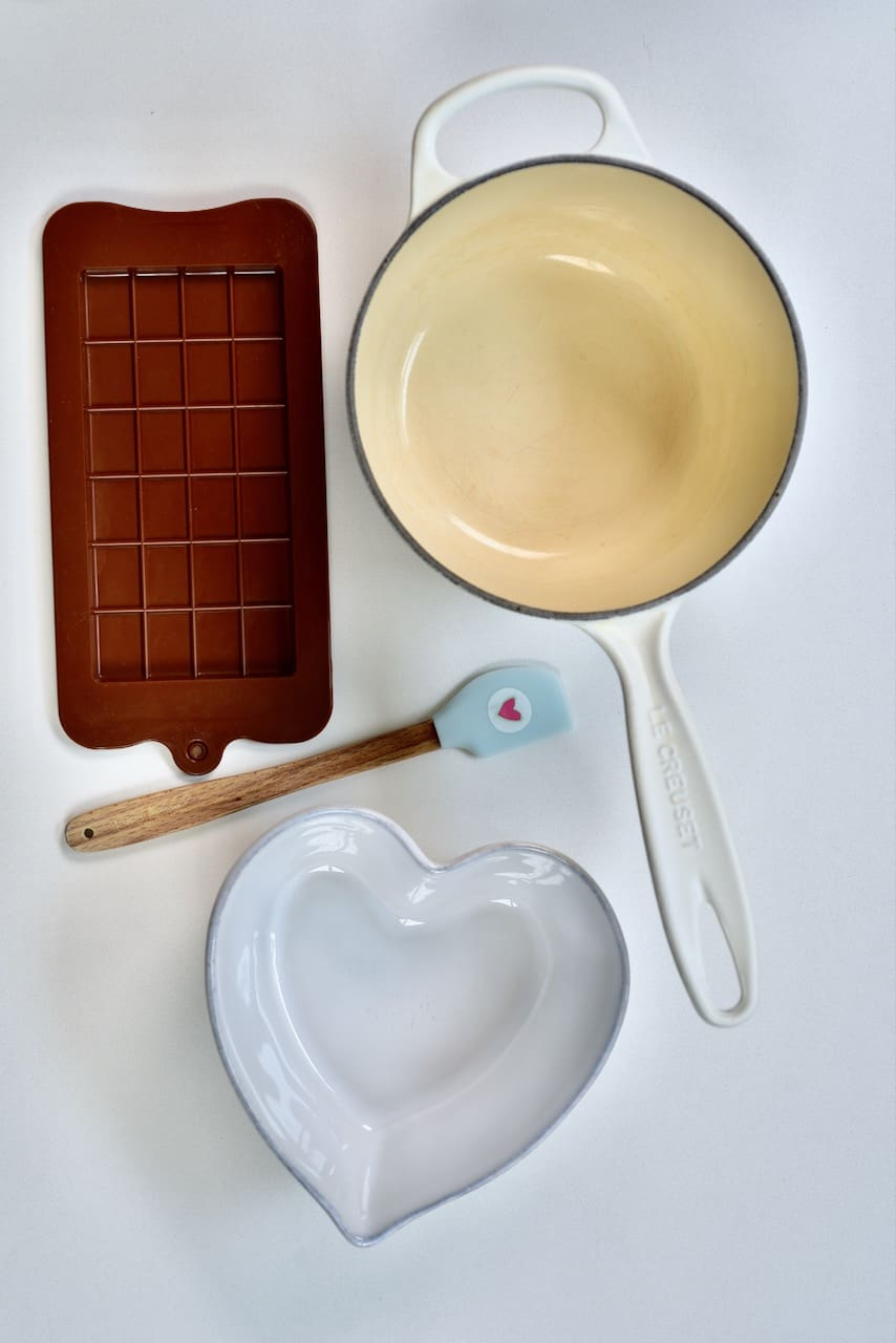 tools for making dark chocolate