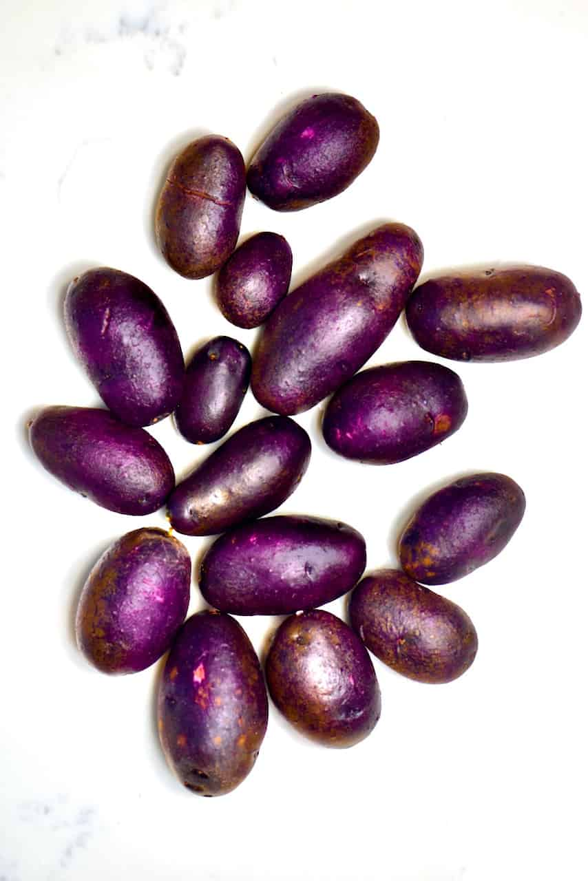 washed Purple potatoes