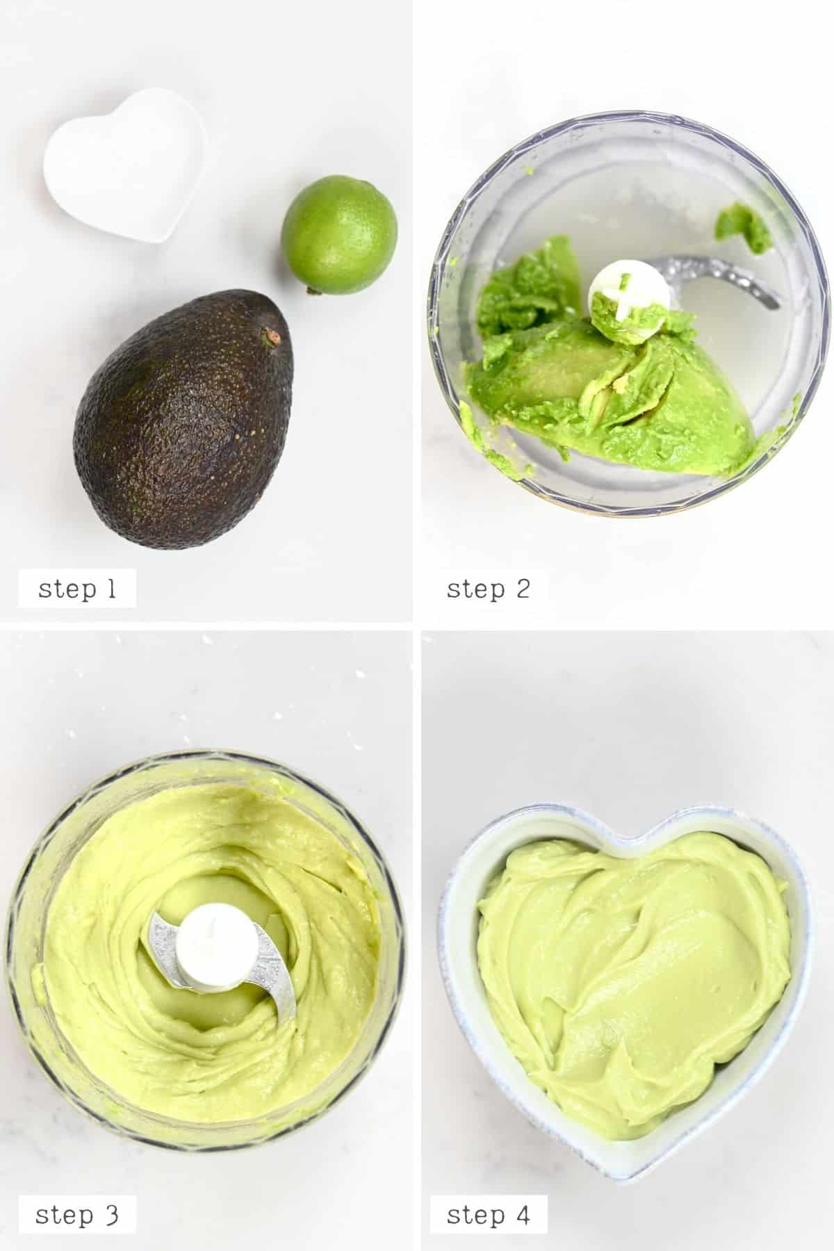 Making an avocado mash for berry wraps