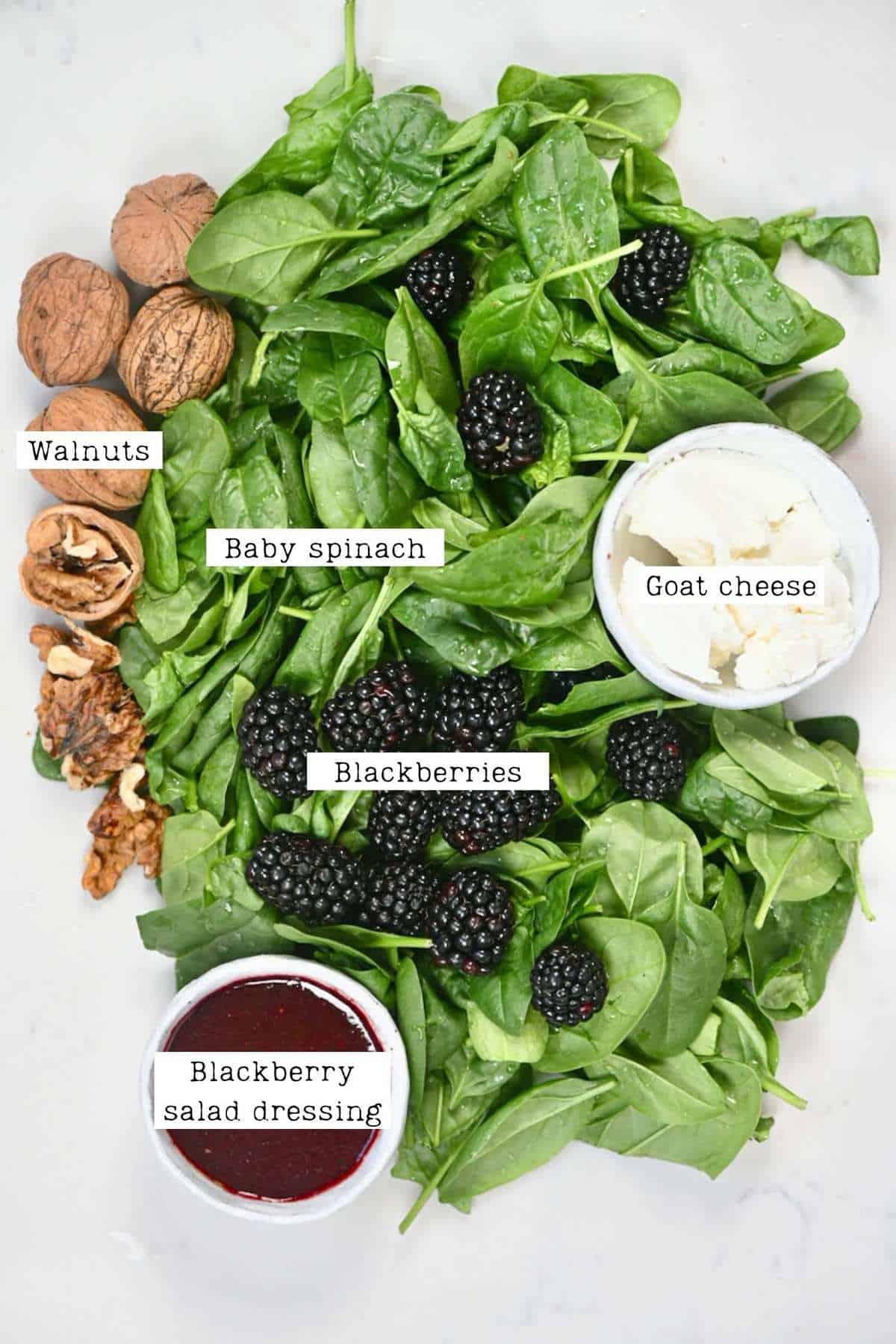 Blackberry Salad Ingredients