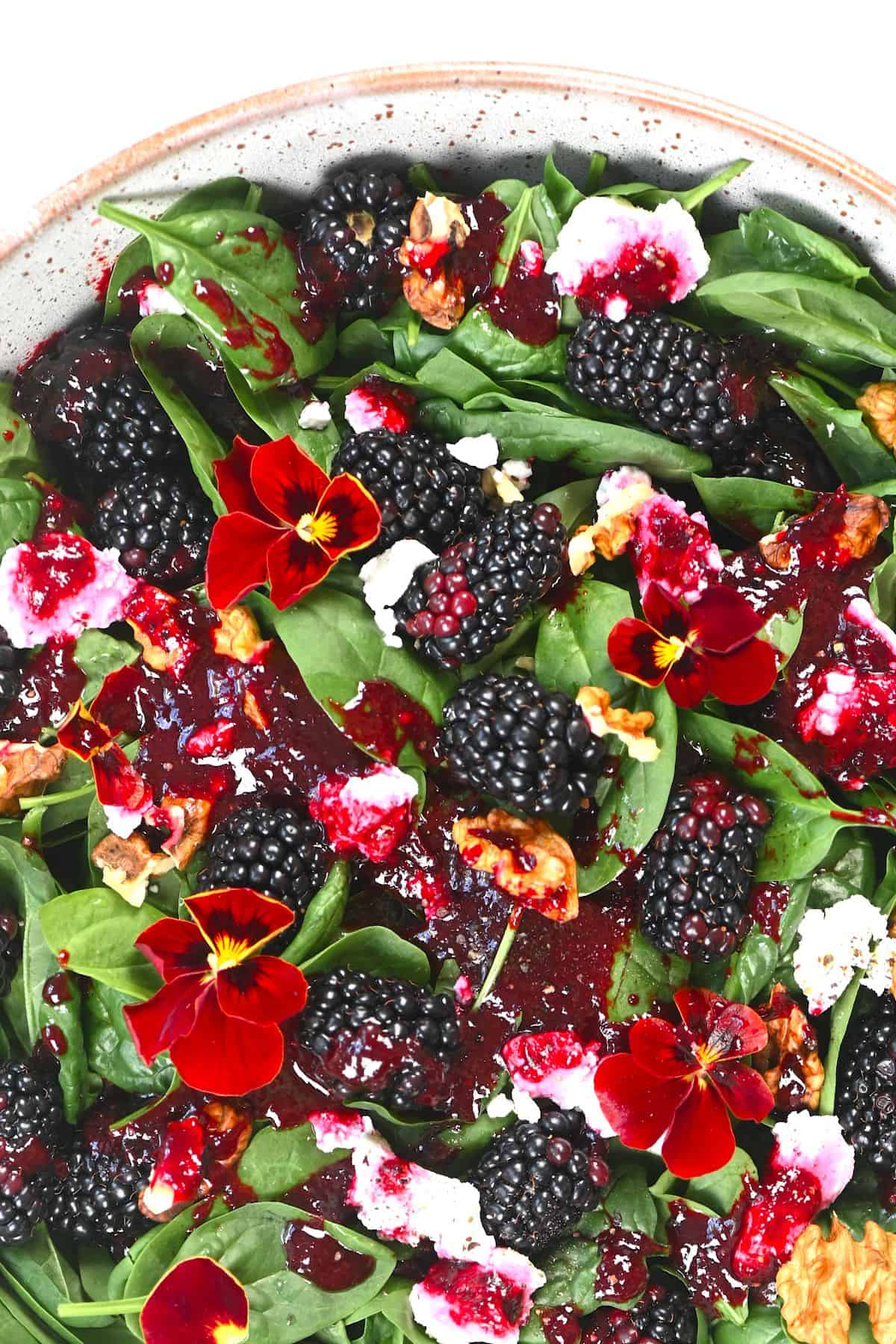 Blackberry Salad close up