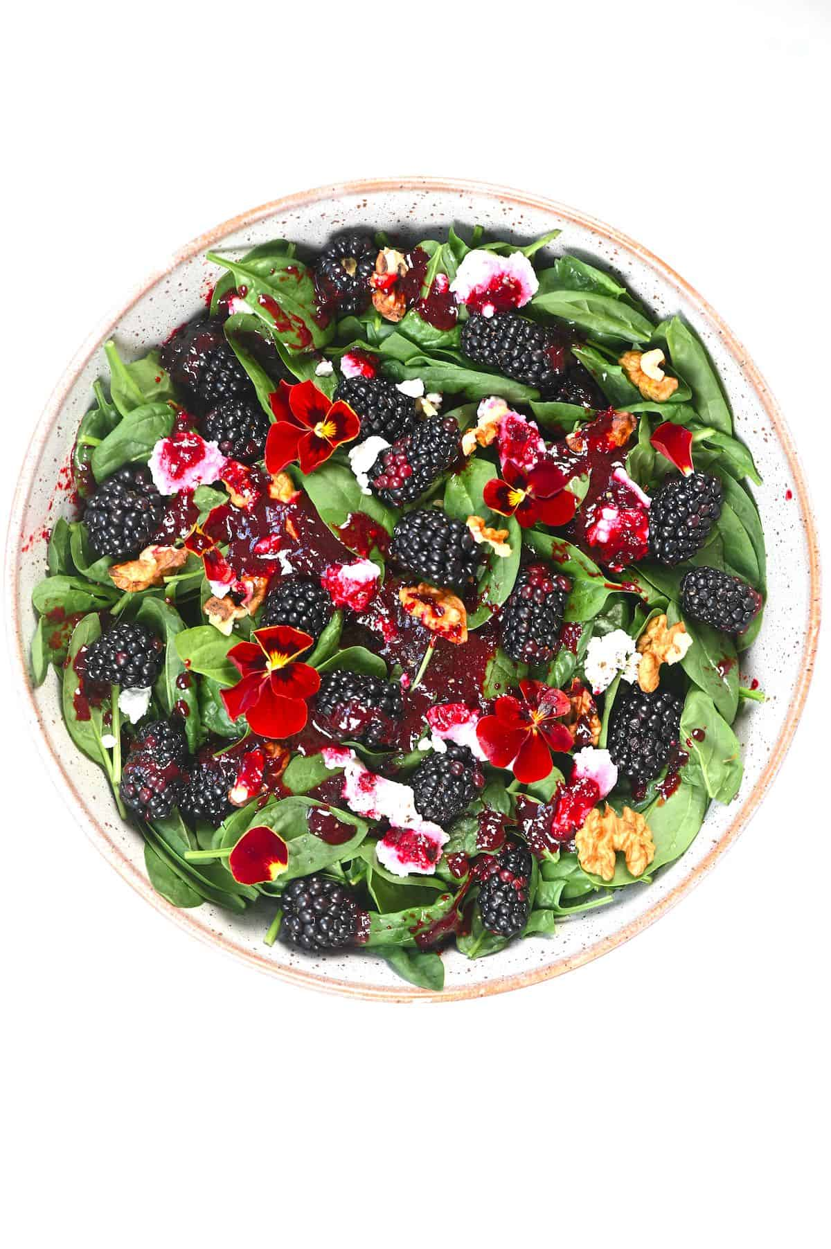 Blackberry Salad in a large bowl
