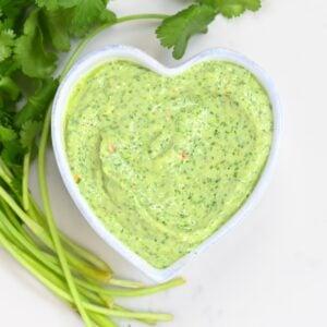 Creamy Avocado Cilantro Sauce - square photo
