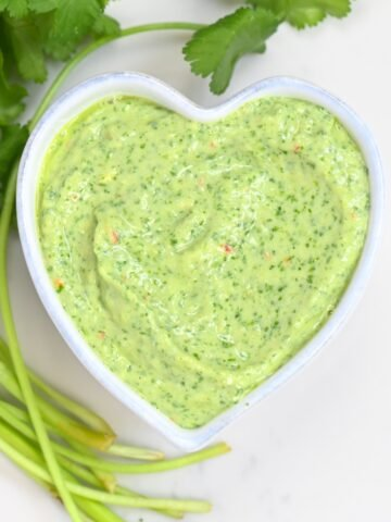 Creamy Avocado Cilantro Sauce - square photo