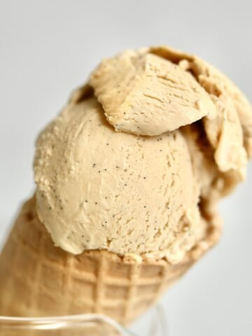 Caramel ice cream square photo