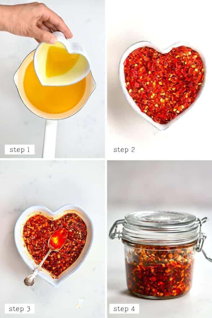 Chili Oil preparation steps