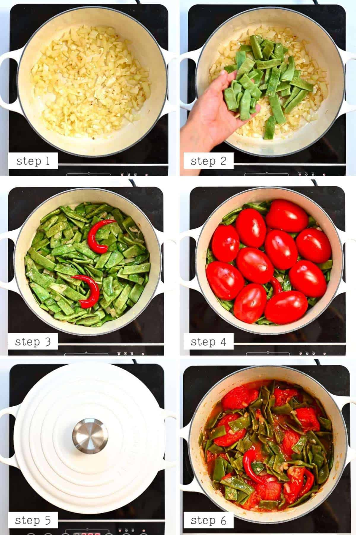 Cooking green beans steps