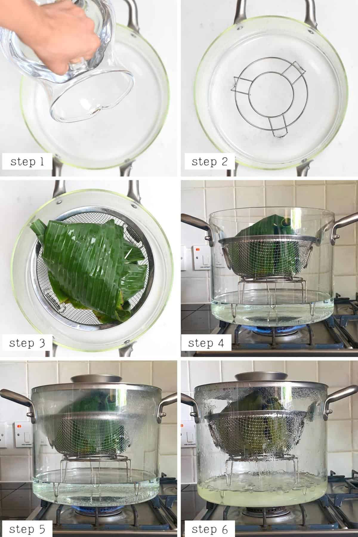 Cooking steps for cooking sticky rice