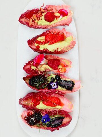 Healthy Berry Lettuce Wraps Square photo