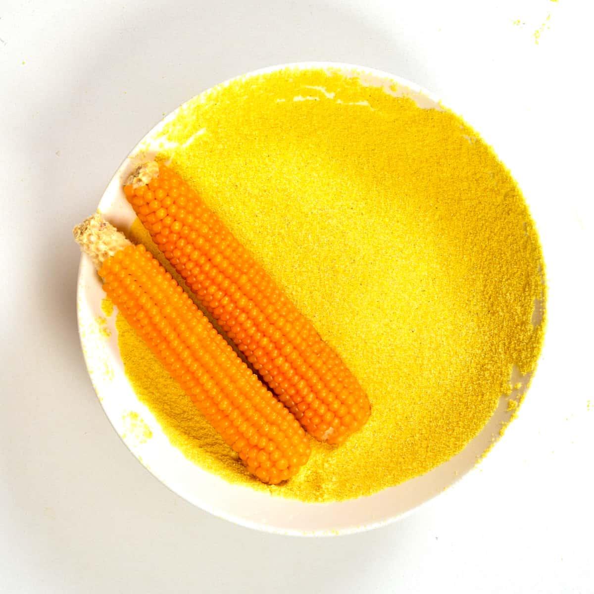 Homemade corn flour square