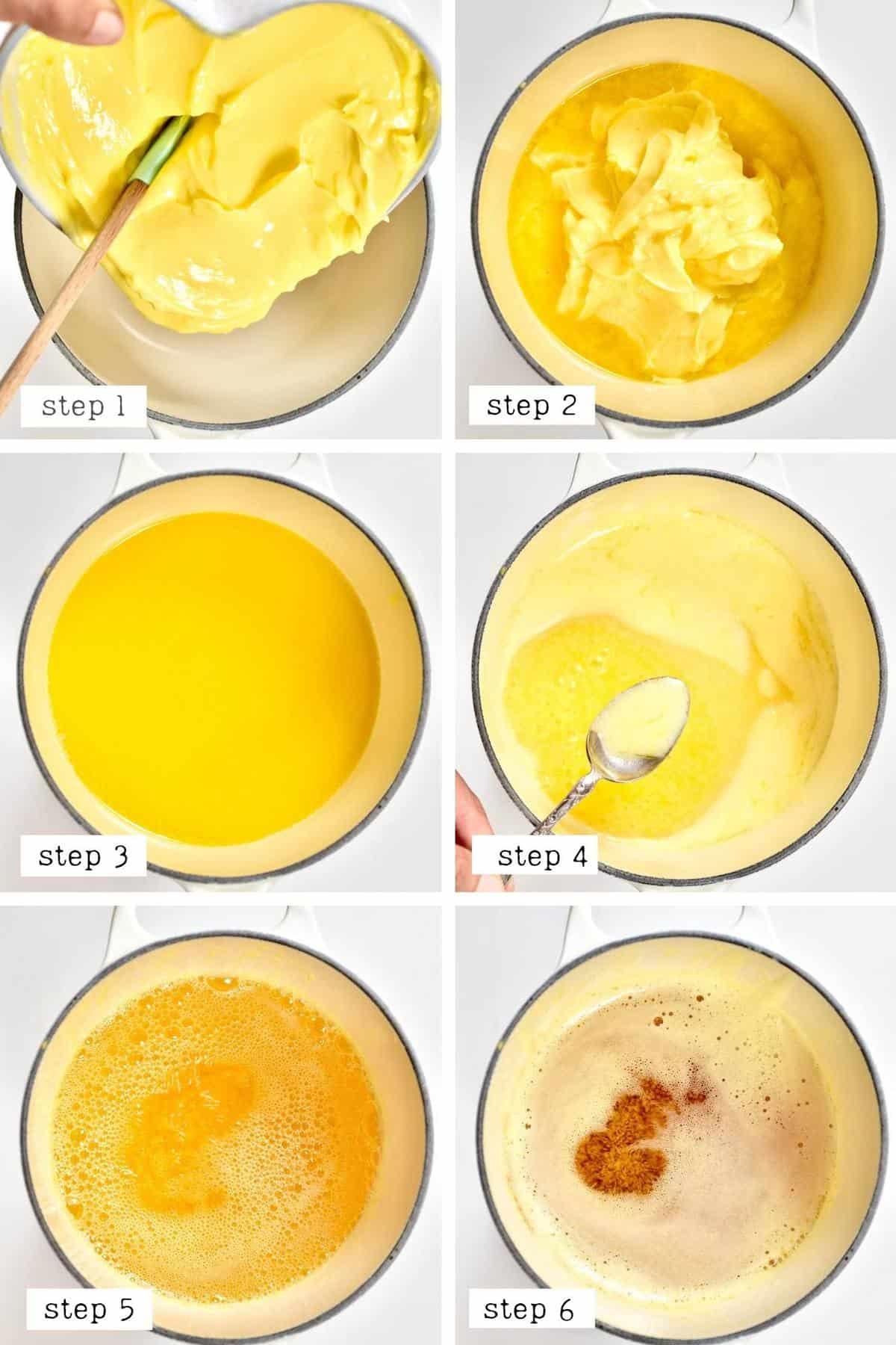 How to make Ghee steps