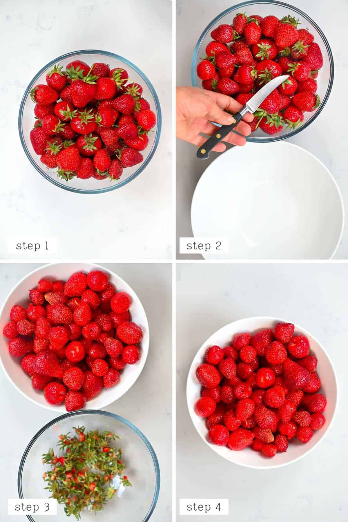 How to remove Strawberry Stems