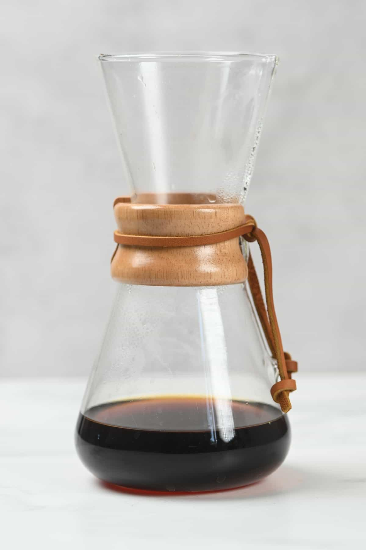 Coffee dripper with some coffee
