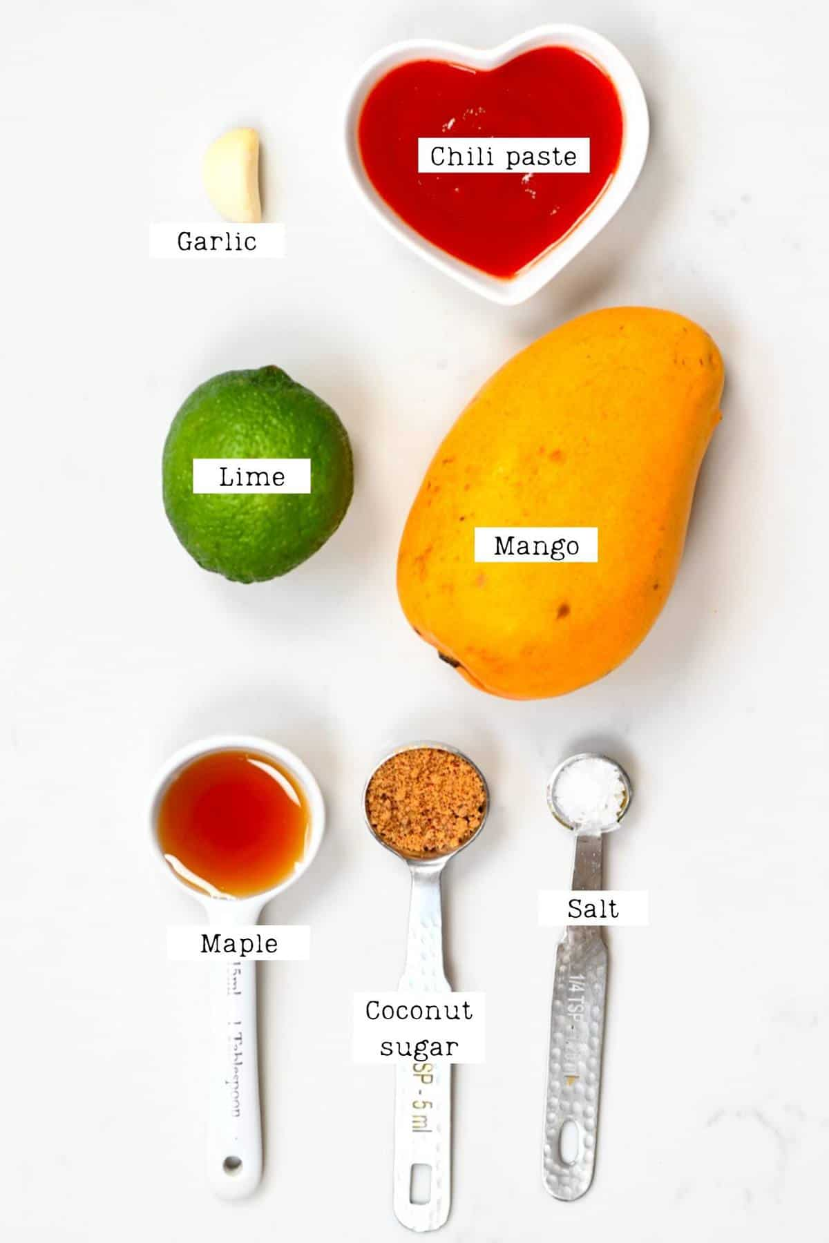 Mango Sweet Chili Dipping Sauce Ingredients