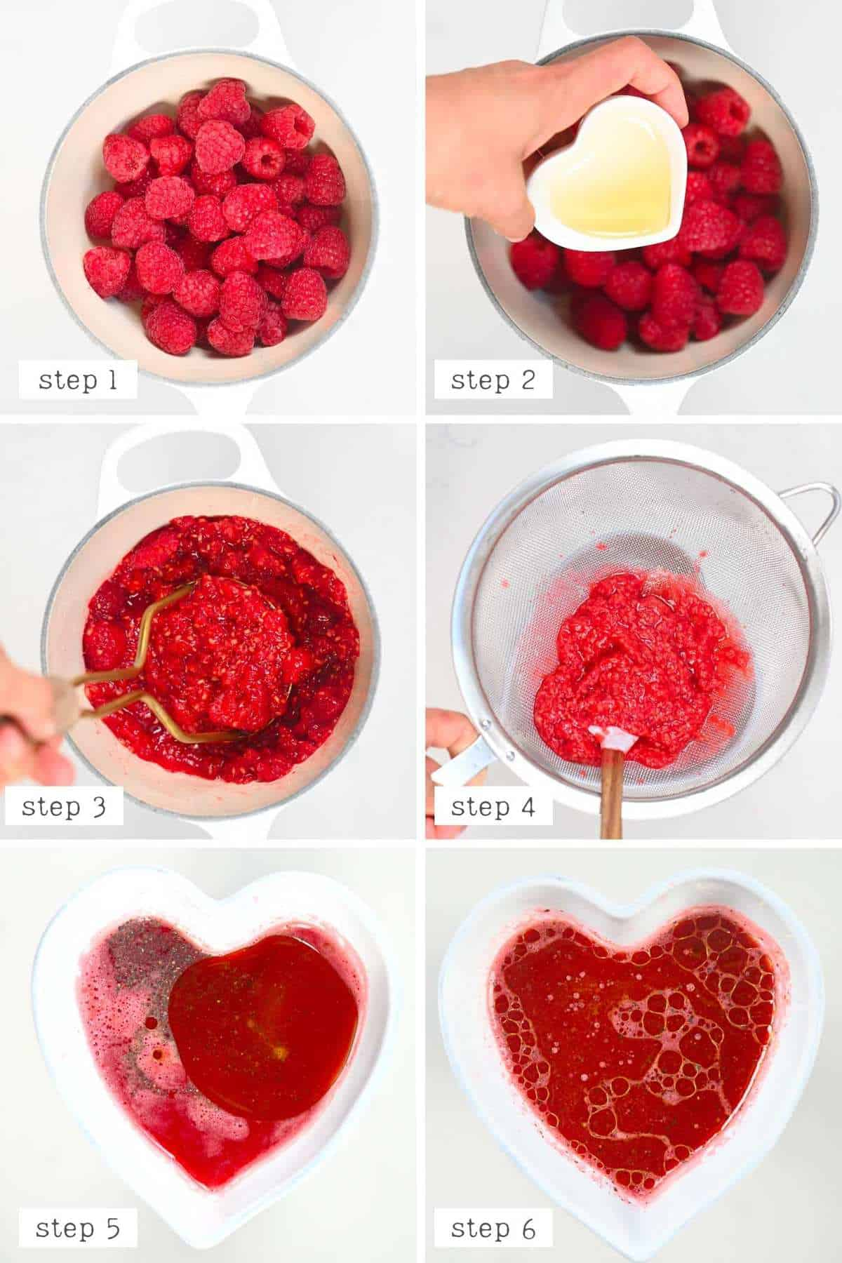 Mixing steps for Raspberry salad dressing