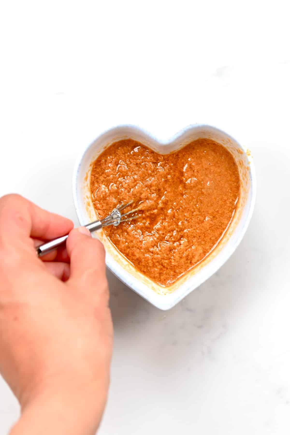 mixing the ingredients of Peanut Dipping Sauce