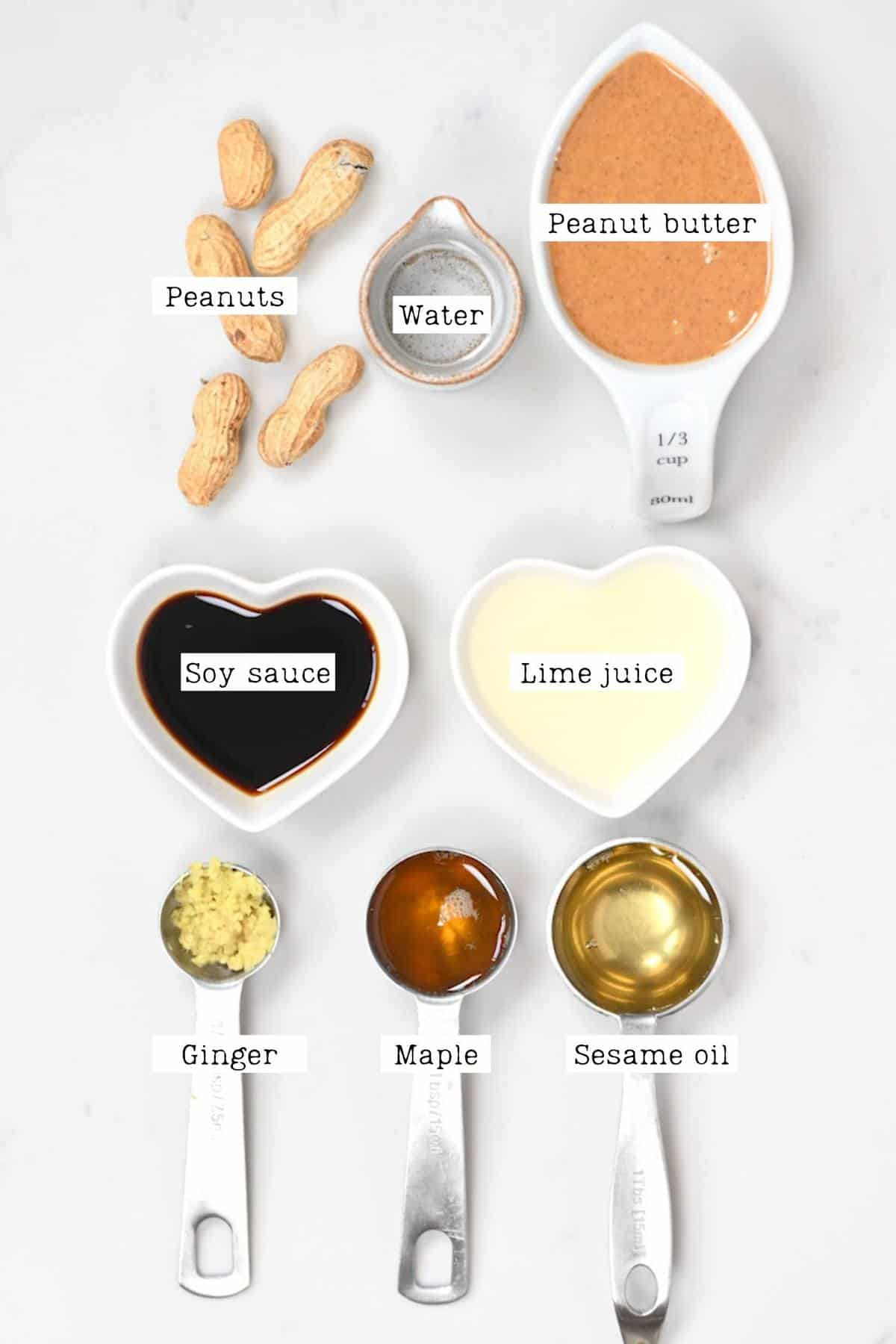 Peanut Dipping Sauce Ingredients