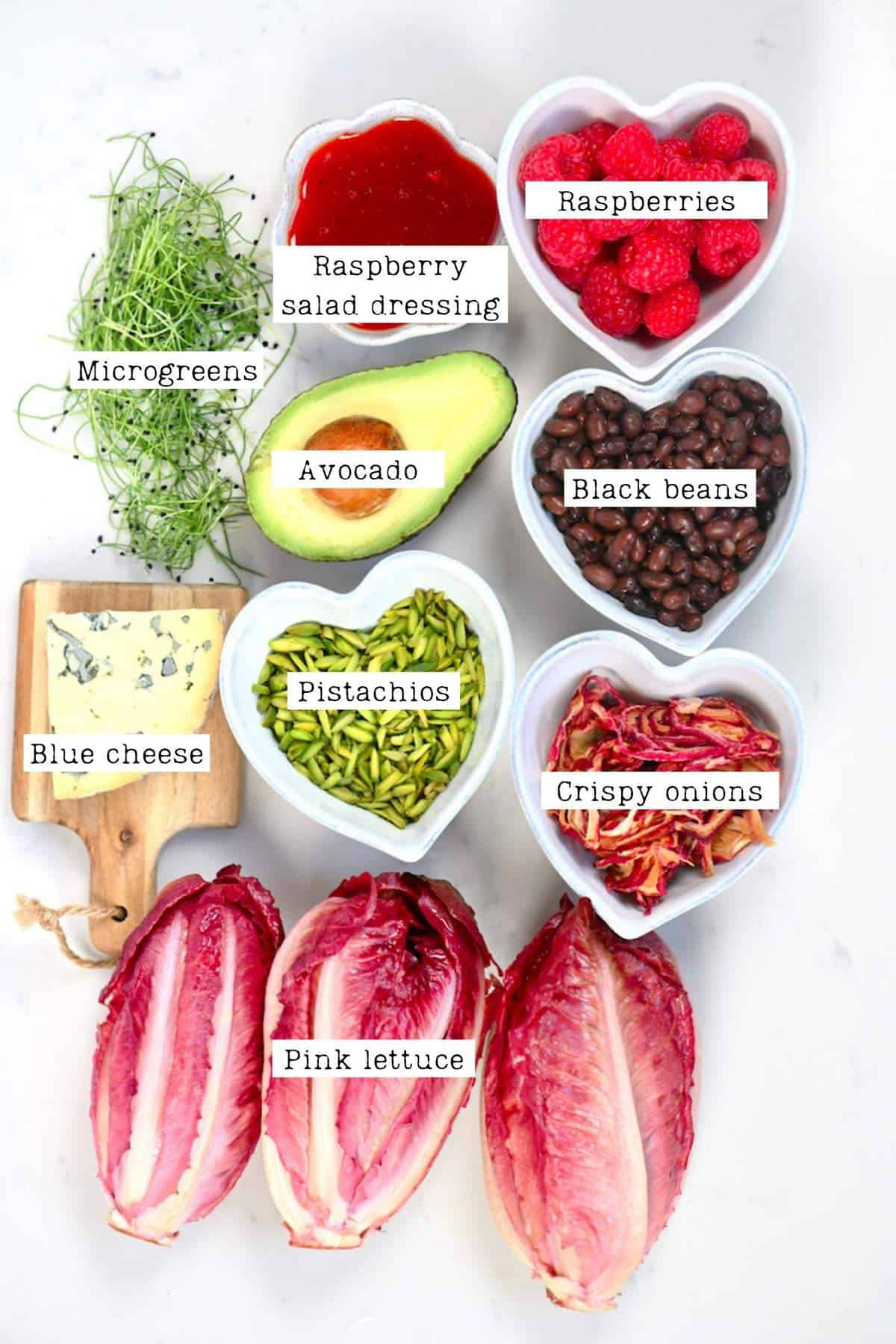 Raspberry Salad Ingredients