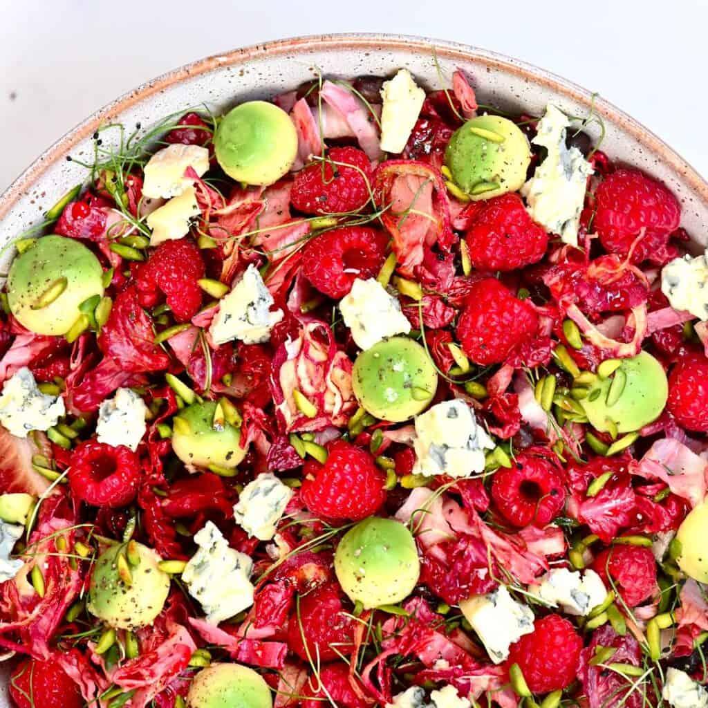 Raspberry Salad Square Photo