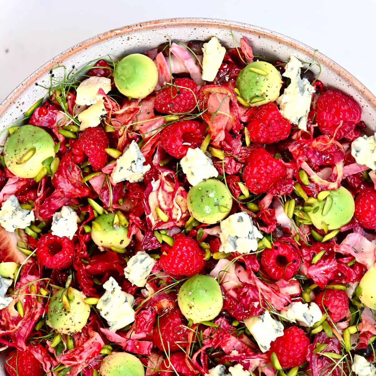 Raspberry Salad Square Photo