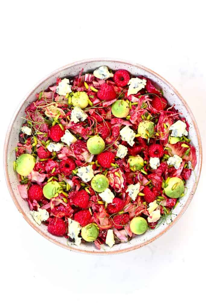 Raspberry Salad in a large bowl