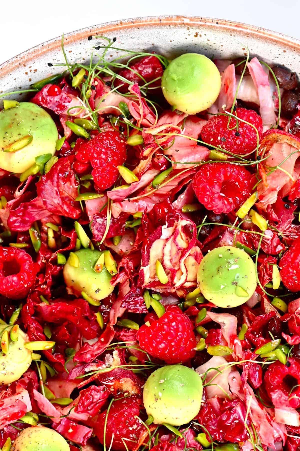 Raspberry Salad bowl