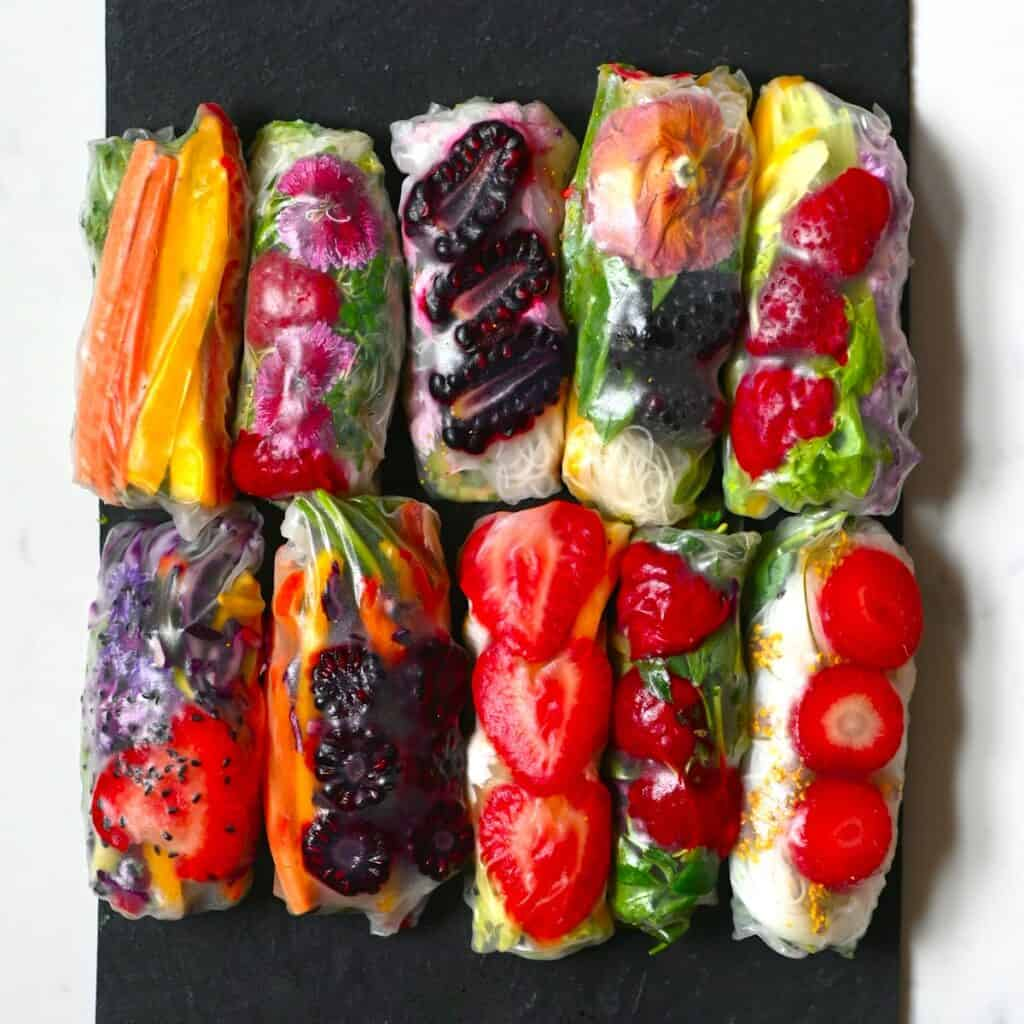 Rice Paper Summer Rolls Square Photo