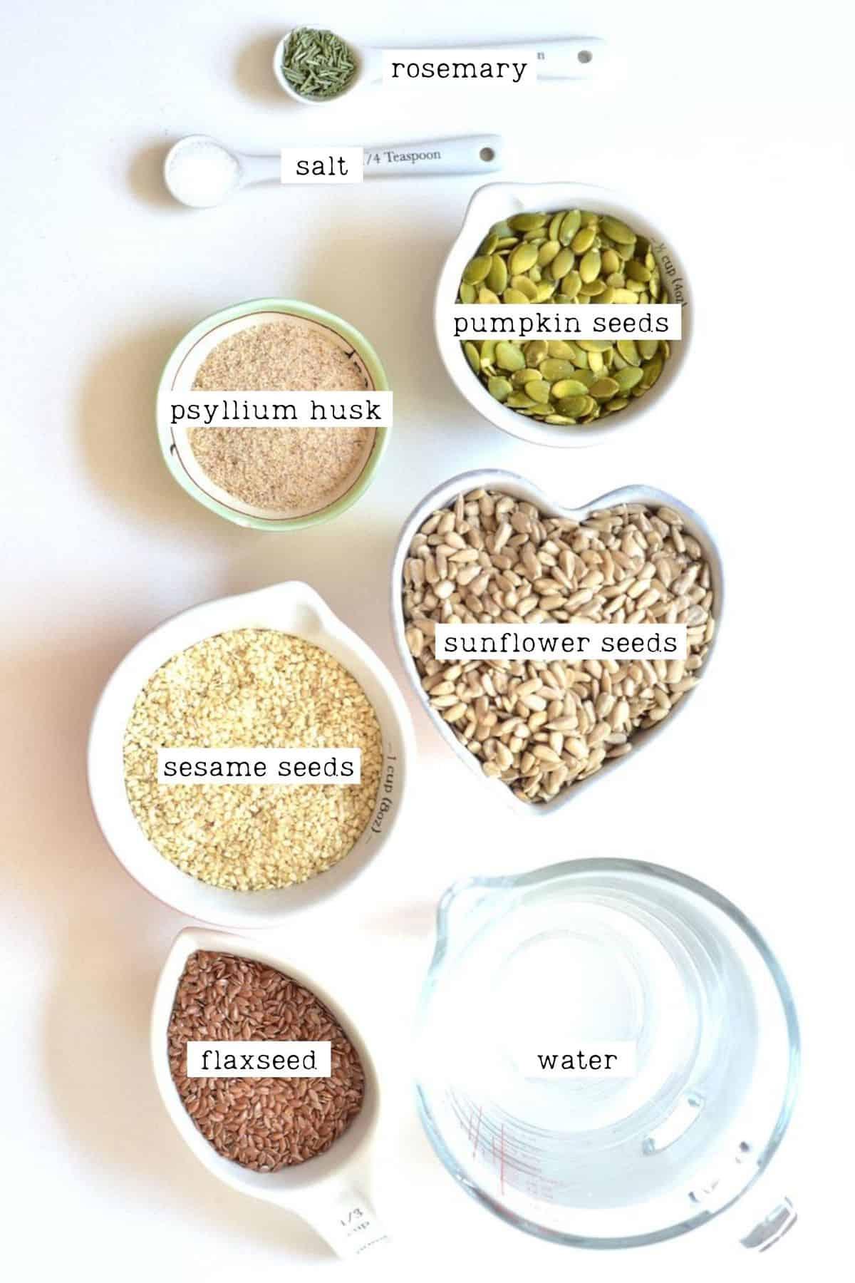 Seeded Crackers Ingredients