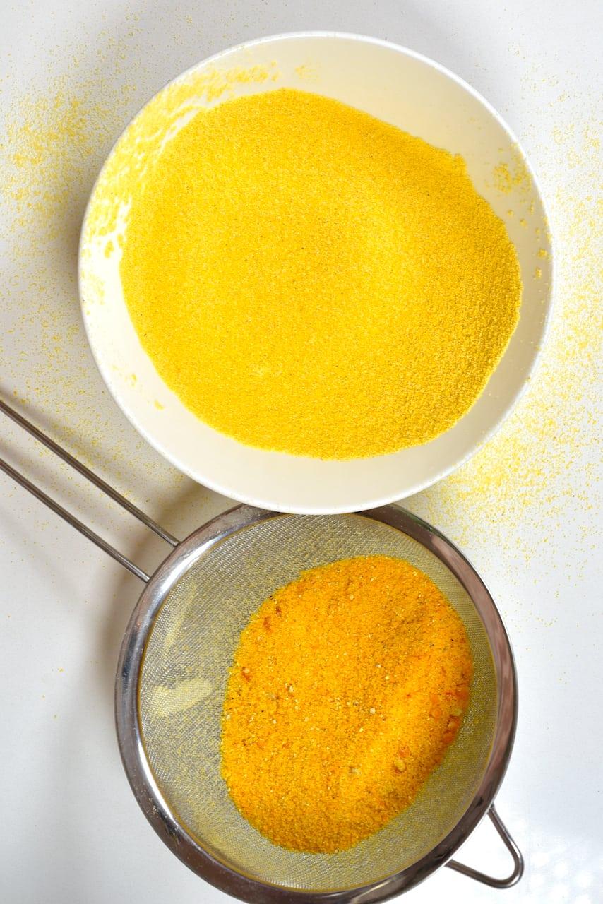 Sieved corn flour