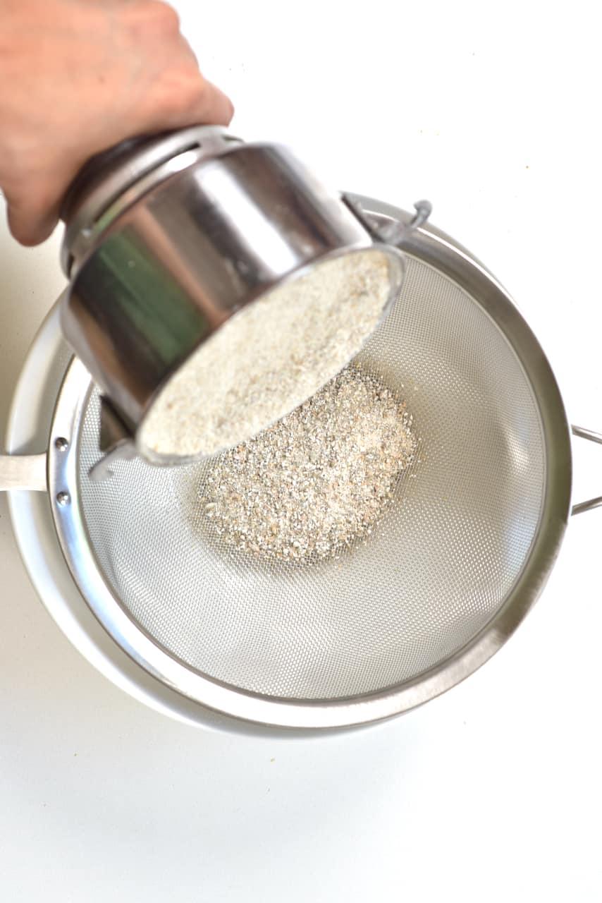 Sieving rye flour