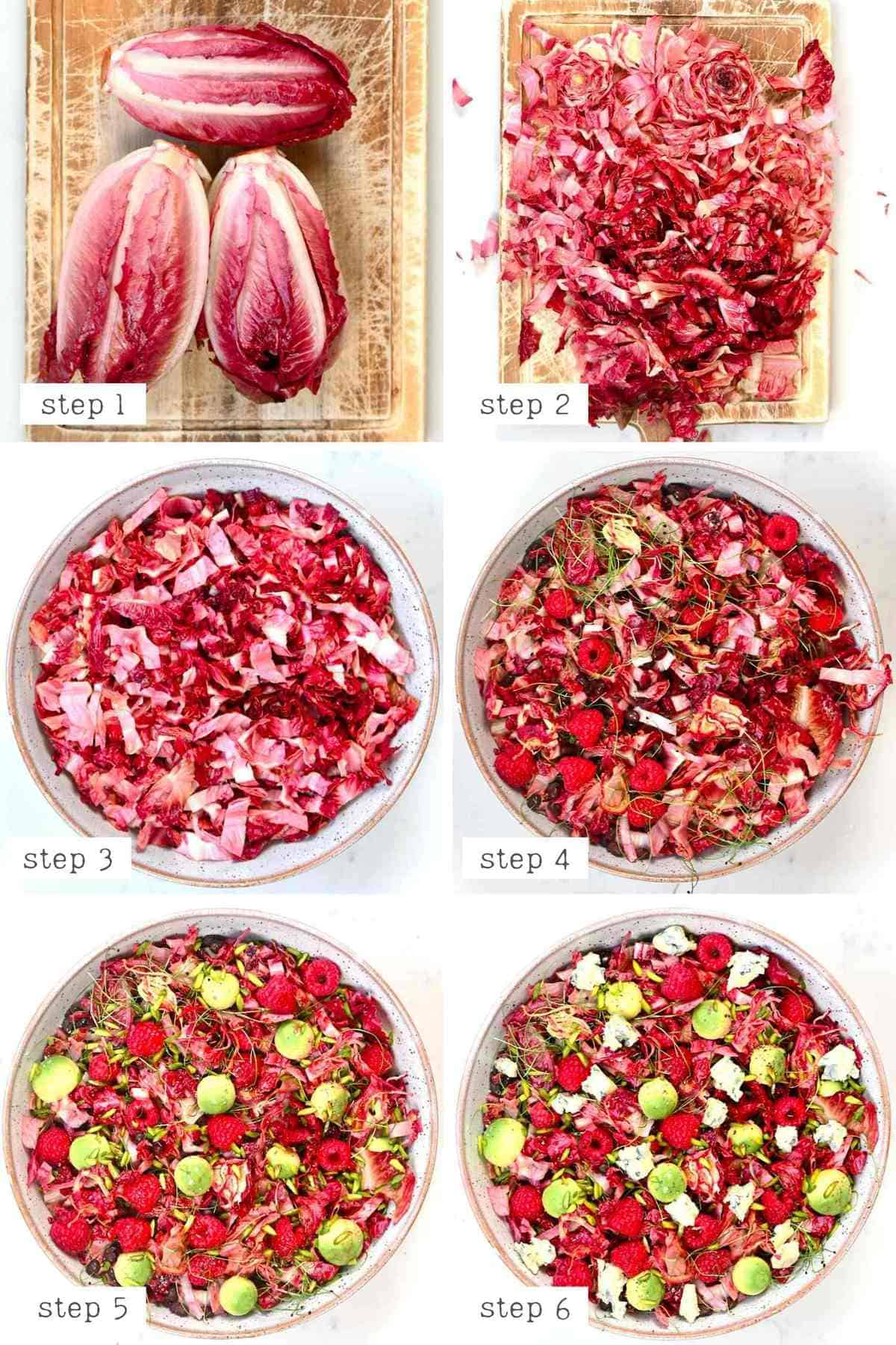 Steps for making Raspberry Salad