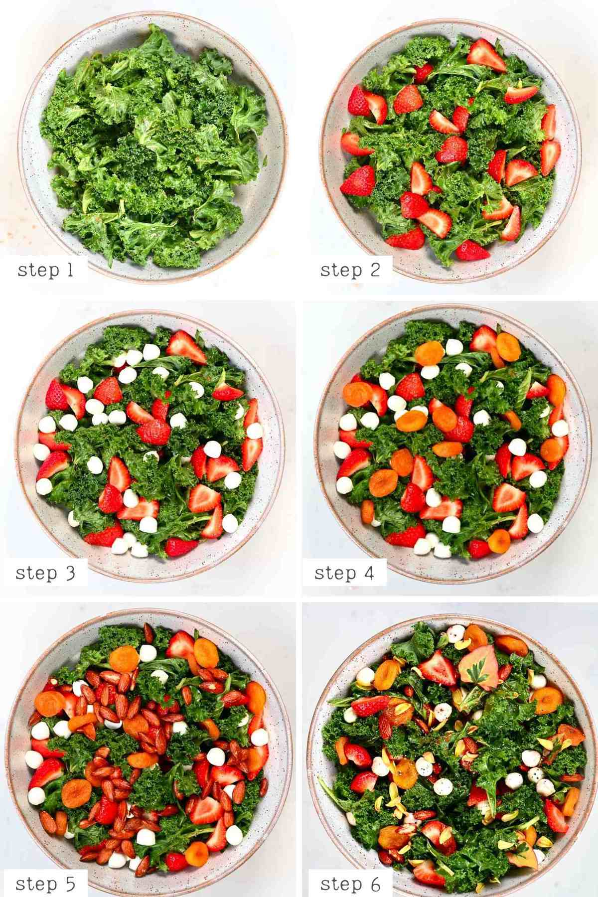 Steps for making Strawberry Salad