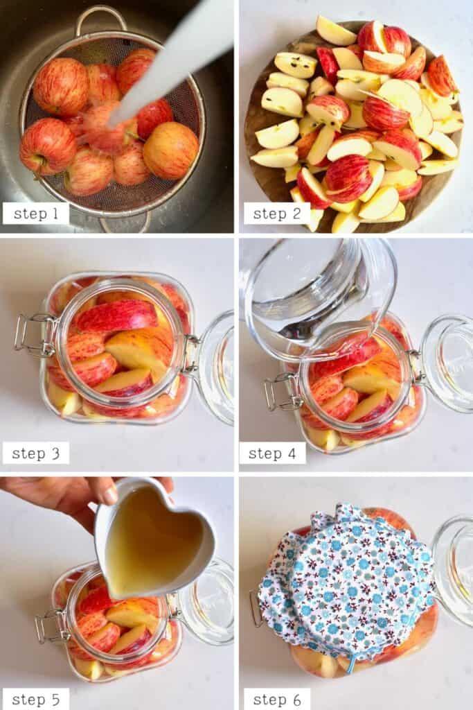Steps for making apple cider vinegar
