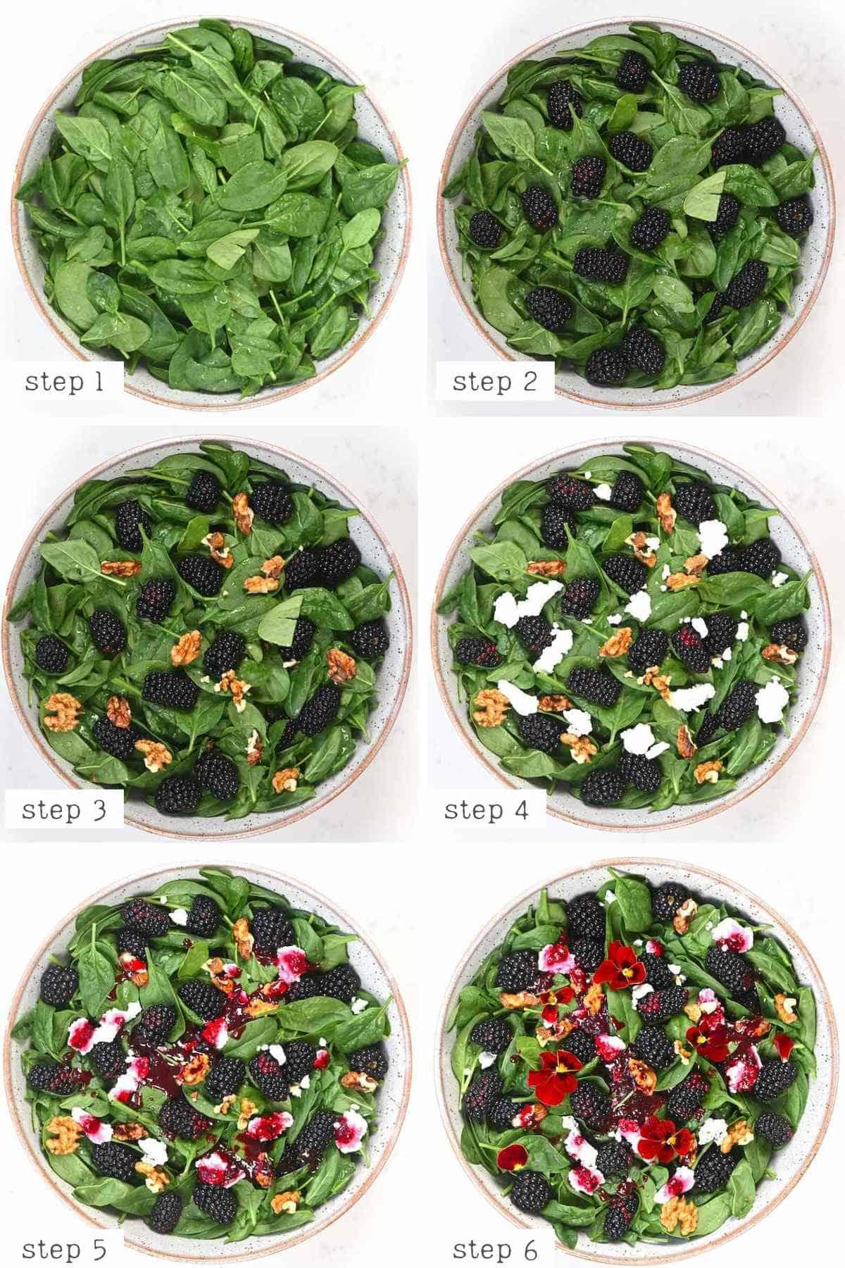Steps for making blackberry Salad