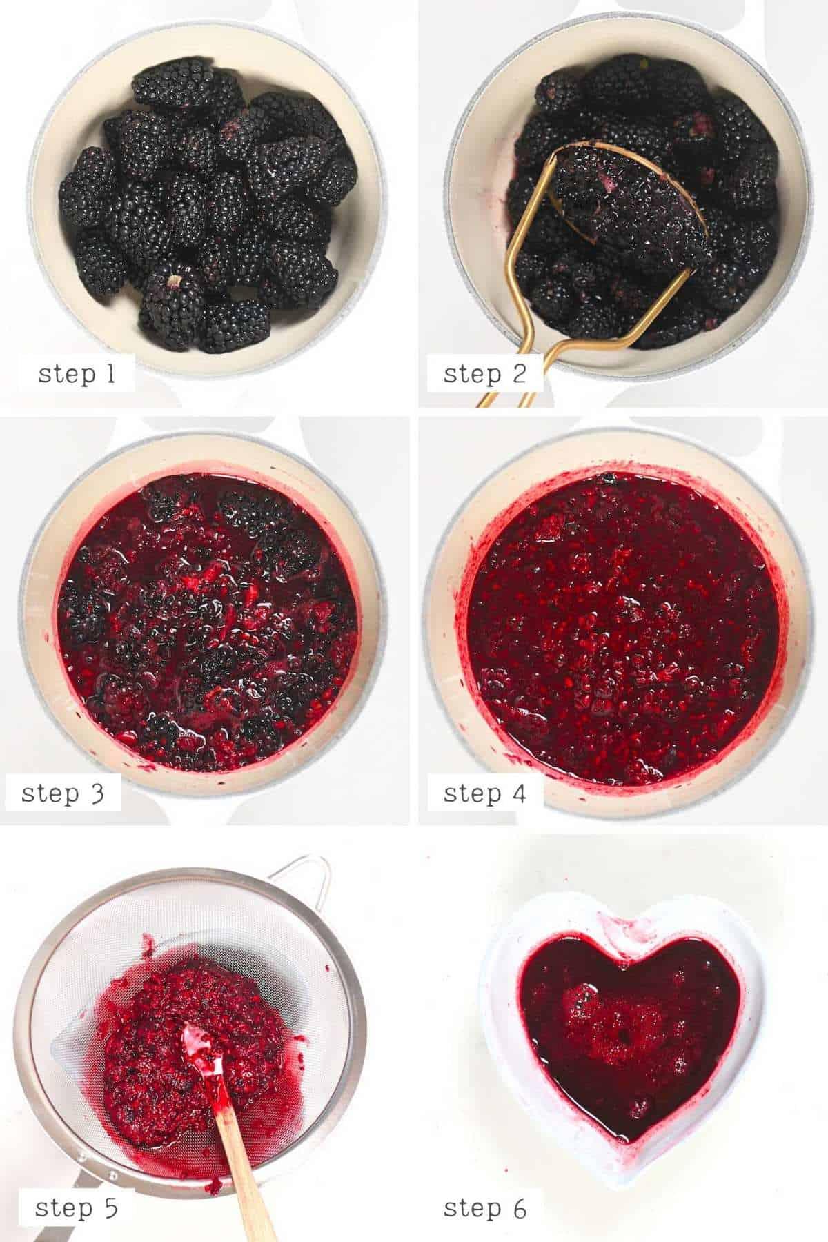 Steps to make Blackberry salad dressing