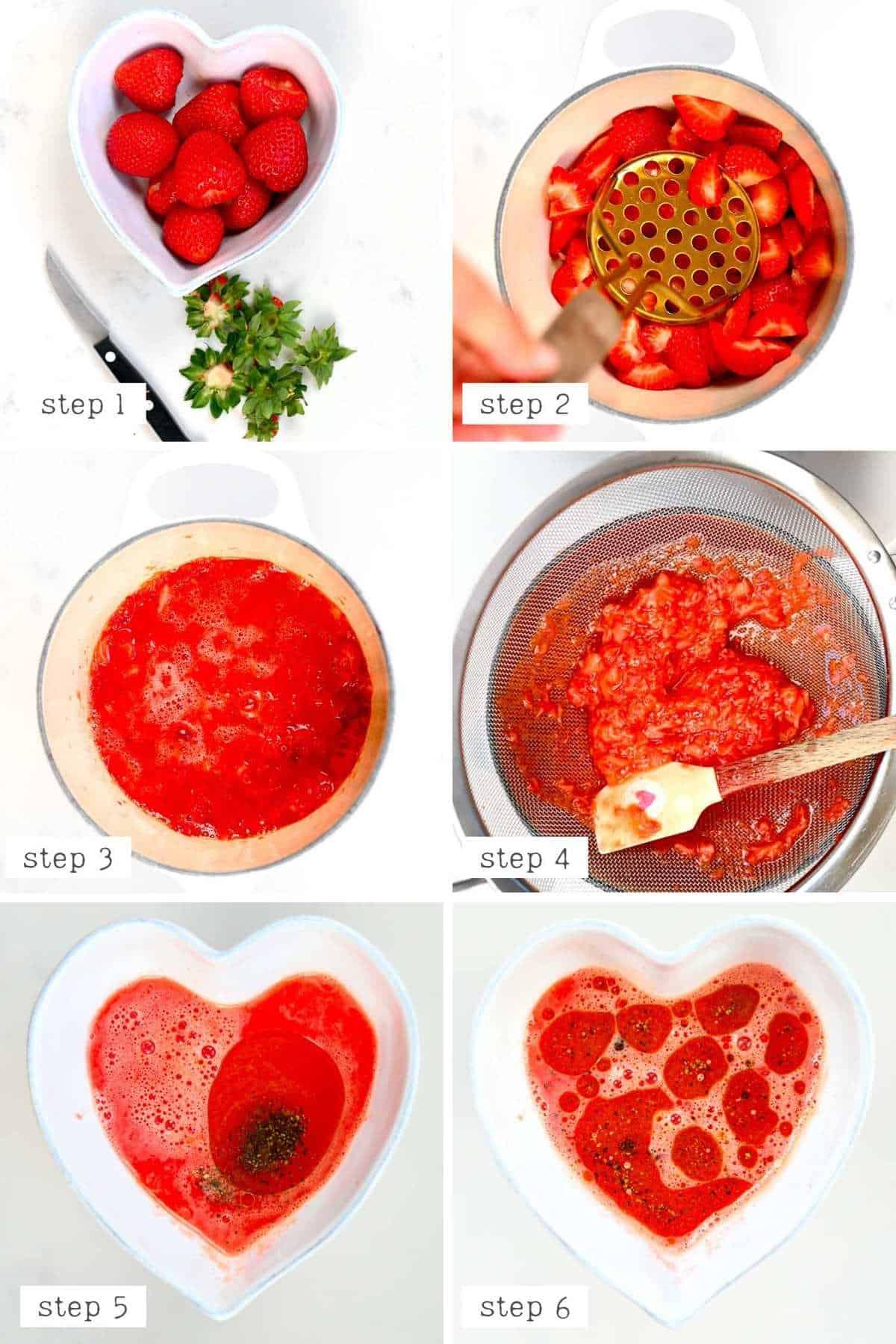 Steps to make Strawberry salad dressing