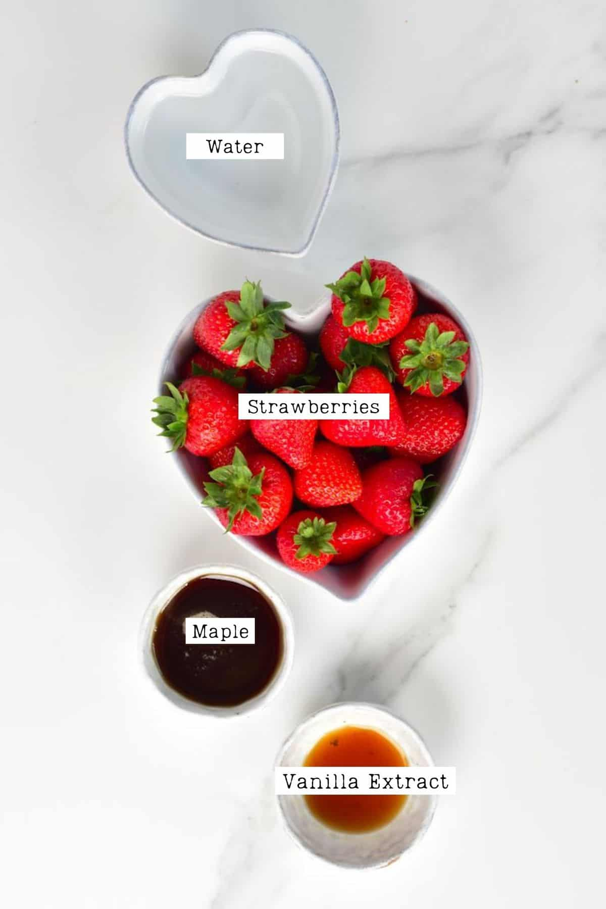 Strawberry Syrup Ingredients