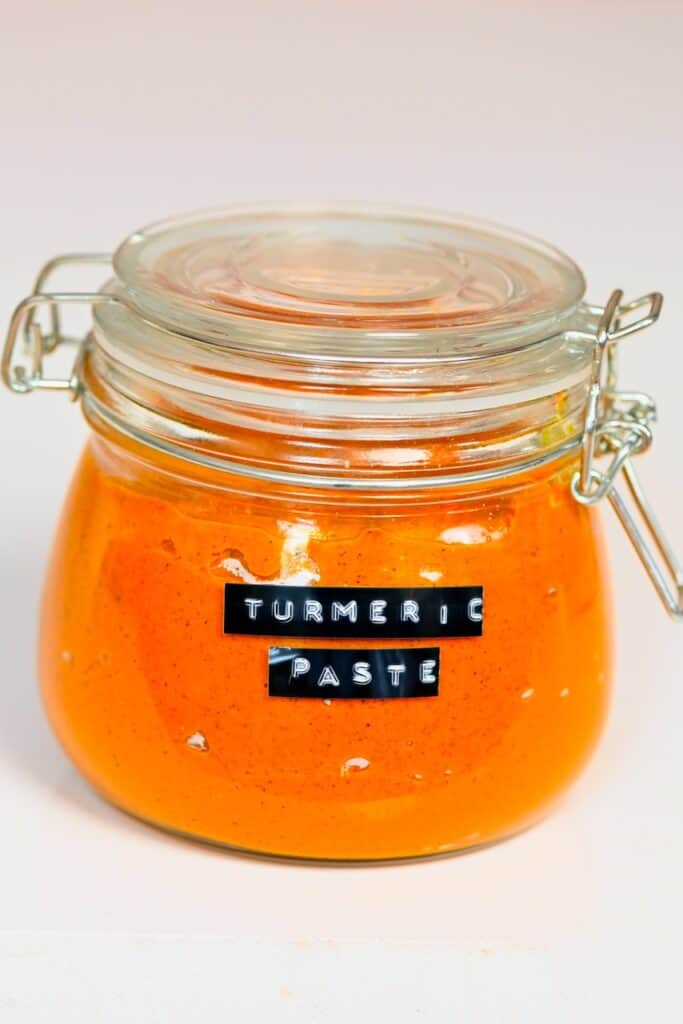 Turmeric Paste in a glass jar