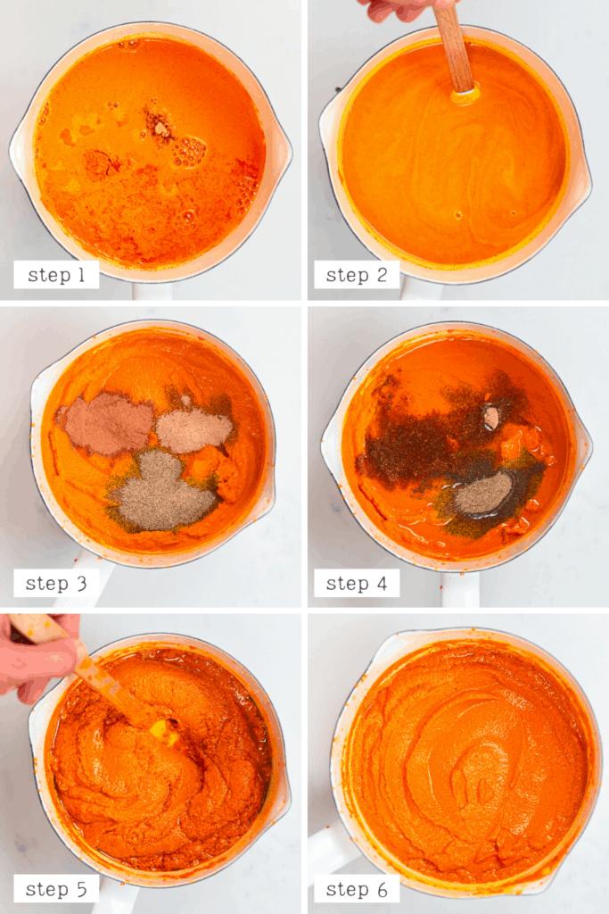 Turmeric Paste mixing steps