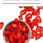 Dried Tomatoes in a gray bowl