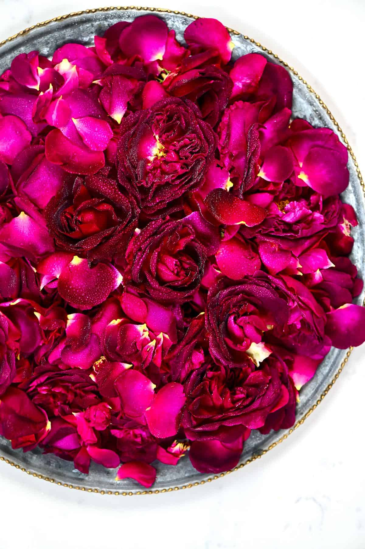 Fresh Roses in a tray