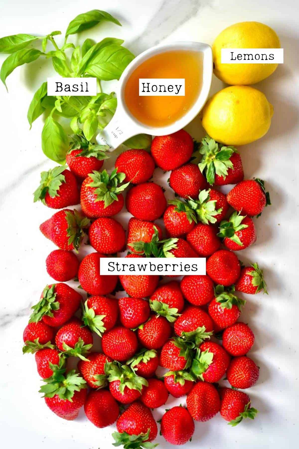 Ingredients for Strawberries Sorbet