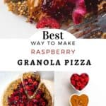 Steps for making Raspberry Granola Pizza