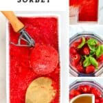 Steps to making Strawberry Sorbet
