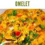 Close up of Veggie Omelette