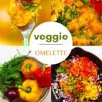 Steps for making Veggie Omelette