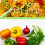 Veggie Omelette and ingredients
