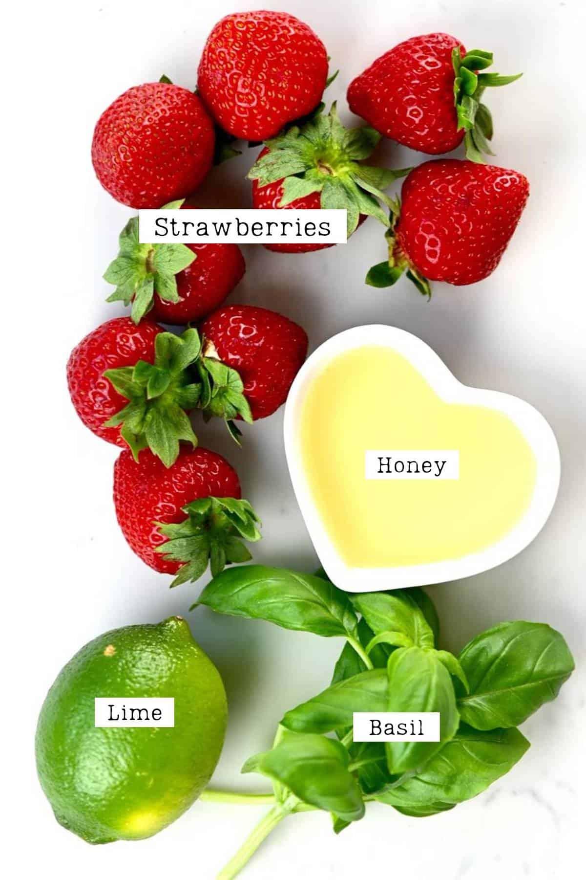 ingredients to make strawberry mocktail