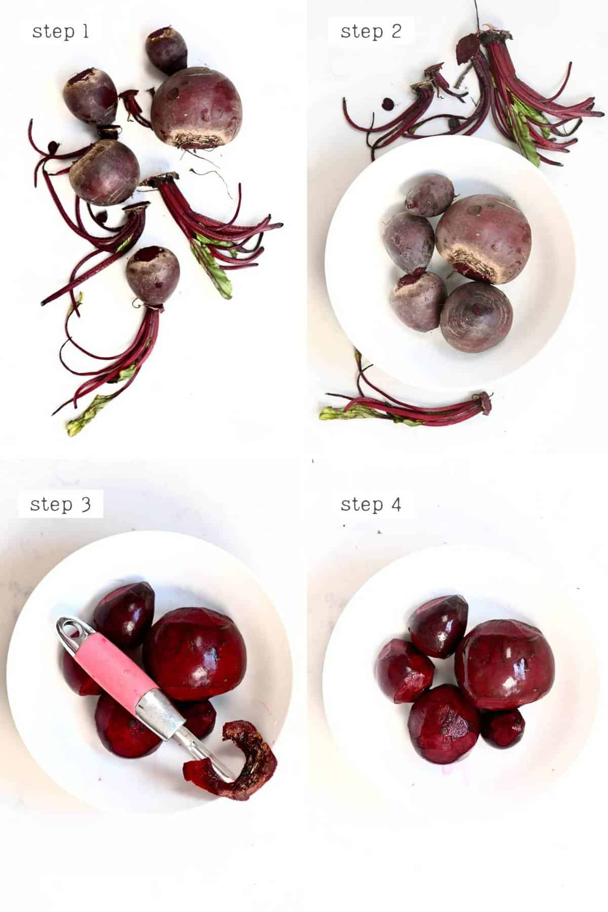 steps for cleaning beetroot